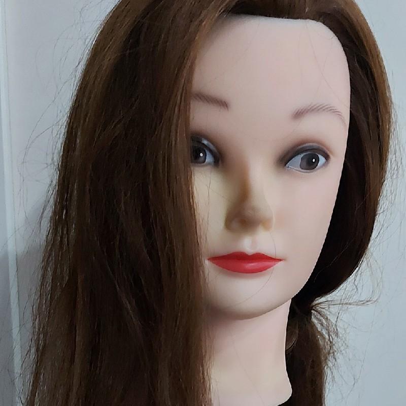 سر عروسک برای شنیون و بافت سالم و در حد نو