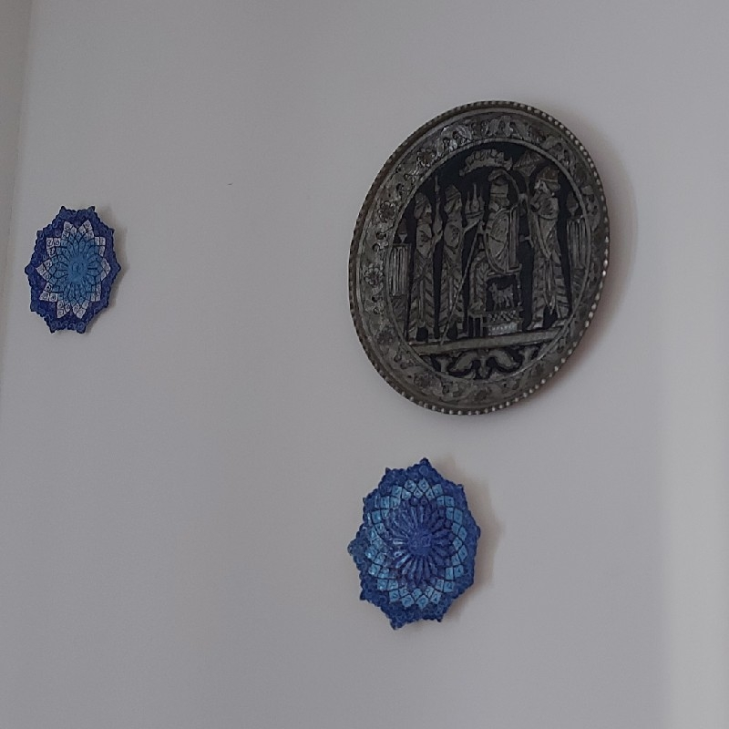 ظروف دیوارکوب میناکاری و نقره